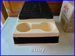 Vintage Igloo Little Kool Rest Car Cooler Tan Black Console Ice Chest Cup Holder