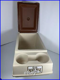 Vintage Igloo Little Kool Rest Car Cooler Tan/Brown Console Chest Car/Truck