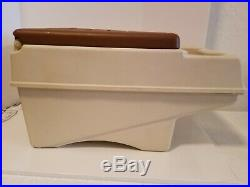 Vintage Igloo Little Kool Rest Cooler Cup Holder Arm Rest Car Ice Chest Beige