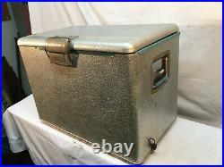 Vintage JC Higgins LG Aluminum Ice Chest Cooler With Bottle Opener Tail Gating