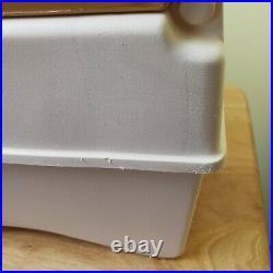 Vintage Little Kool Rest Igloo Cooler For Car or Camper Off White and Tan/Brown