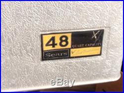Vintage MID Century Sears Cooler Aluminum 48 Quart