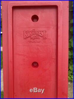 Vintage Rare LARGE Igloo Kool Rest Car Cooler Console Red Cup Holder KOOLREST