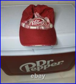 Vintage Rubbermaid Dr. Pepper Ice Chest Cooler 22 x 15.5 x 14 with FREE DP HAT