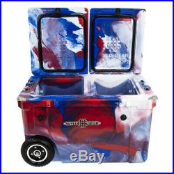 WYLD HC50-17RWB 50 Qt. Dual Compartment Insulated Cooler with Wheels, All American