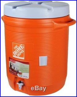 Water Cooler Dispenser 10 Gallon Ice Cold Drink Button Spout Carrying Outdoor