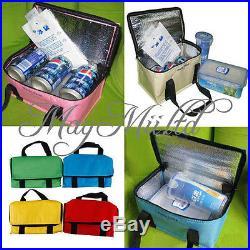 Waterproof Travel Aluminum Foil Insulated Zipper Lunch Box Bag Picnic Tote J