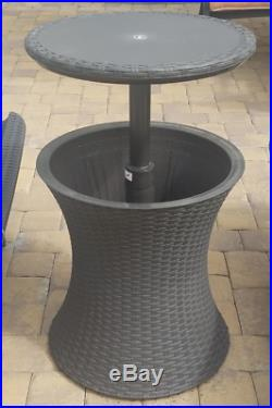 Wine Cooler Table Stand Cocktail Bar Drinks Cool 7 Gal For Patio Lawn Pool Resin