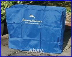 Wooden Ice Chest 100 Quart Wood Rolling Cooler 130 Can Capacity Tommy Bahama