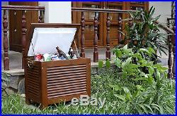 Wooden Patio Cooler Box Party Beer Drink Bar Garden Outdoor Ice Chest Deck Yard