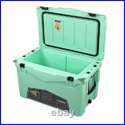 Xspec 60 Quart Roto Molded High Performance Ice Chest Outdoor Cooler, Seafoam