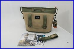 YETI Hopper Two 20 Portable Cooler Field Waterproof Tapered Tan / Blaze Orange
