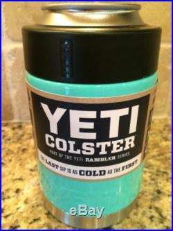 YETI Rambler Colster-Custom Tiffany Blue-New! Can/Bottle Beverage Cooler