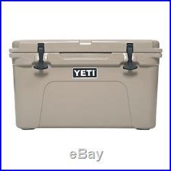 YETI TUNDRA 45 Tan COOLER Free Fast Shipping Fedex 2 Free Lowballs