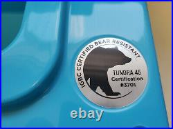 YETI Tundra 45 REEF BLUE Cooler RARE Limited Edition Color Excellent Condition