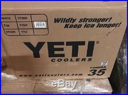 Yeti Cooler Tundra 35 Quart Tan YT35T New Free Shipping