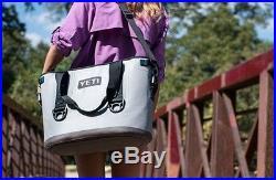 Yeti Hopper 20 Quart Soft Sided Portable Zipper Cooler Fog Gray Model YHOP20