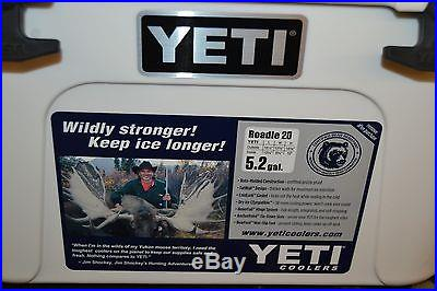 Yeti Roadie 20 (5.2gal) Cooler, Remington Logo, Grizzly Proof, SS Handle
