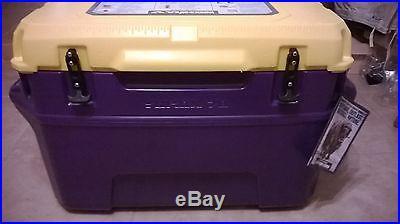 Yukon Cold Lockers, 70 quart, Purple & Gold, Seamless Roto-Mold